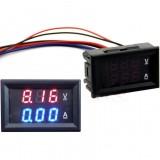 Dual Digital Ammeter Voltmeter DC 100V 50A