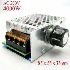 4000W 220V SCR Voltage Regulator Motor Speed Controller Dimming