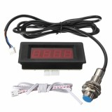 RED LED TACHOMETER RPM SPEED METER DENGAN PROXIMITY SWITCH NPN